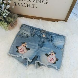 Justice embroidered flowers shorts